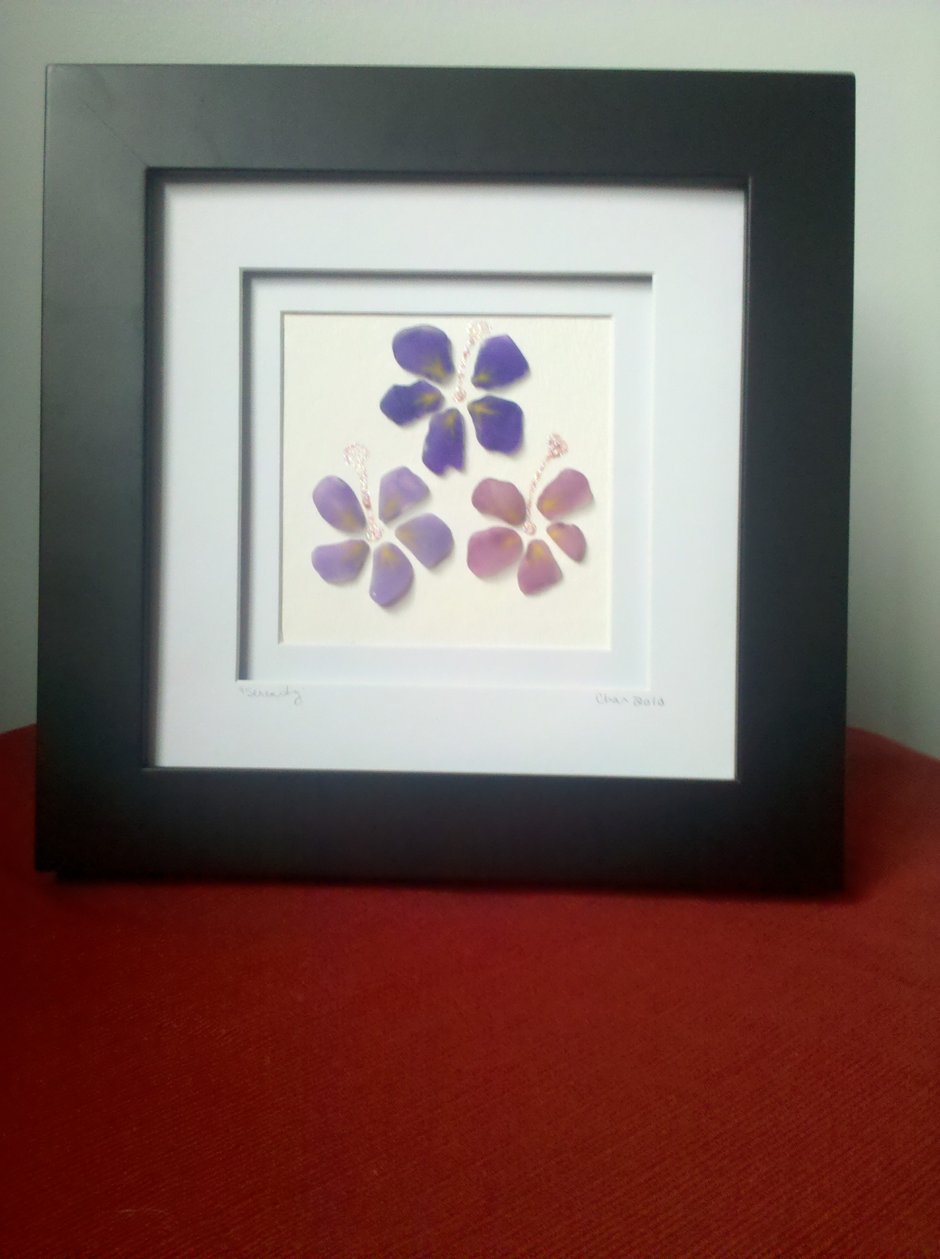 Wall Art Glass Framed : Sea glass just another wordpress site